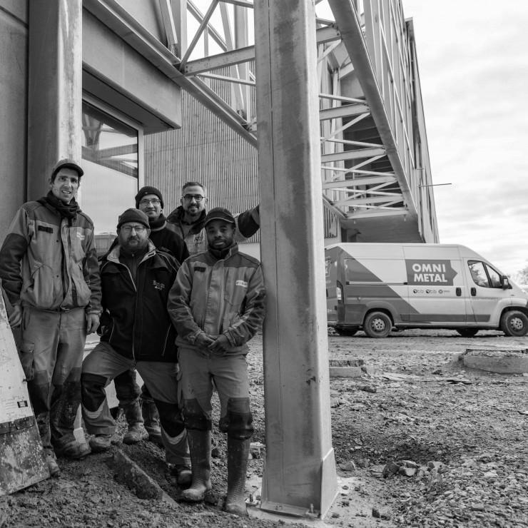 Omnimetal réalise la passerelle métallique du collège de Guipry-Messac
