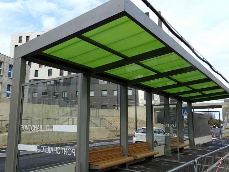 Abri bus halte ferroviaire Pontchaillou