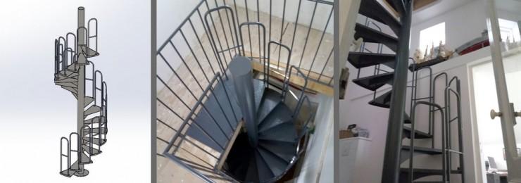 Escalier hélicoïdal métallique par Jérémy