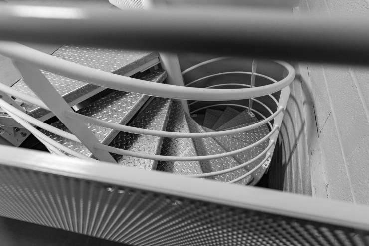 Escalier métallique hélicoïdal