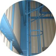 Echelle à crinoline-finition thermolaquée et galvanisée