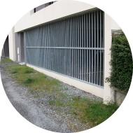 Rideaux métallique en acier galvanisé pour parking