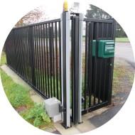 Portail industriel à barreaux automatisé-acier et galvanisé à chaud