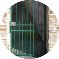 portillon-grille-metal-vert