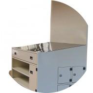 Meubles de travail sur-mesure tôlé avec tiroirs, caissons et compartiments-finition peinture
