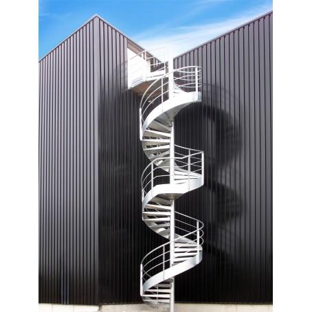 Escaliers ext rieurs - Escalier exterieur acier ...