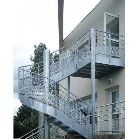 Escalier issue de secours acier