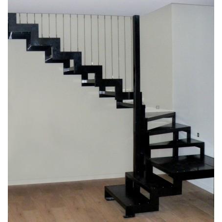 escalier double limon. Black Bedroom Furniture Sets. Home Design Ideas
