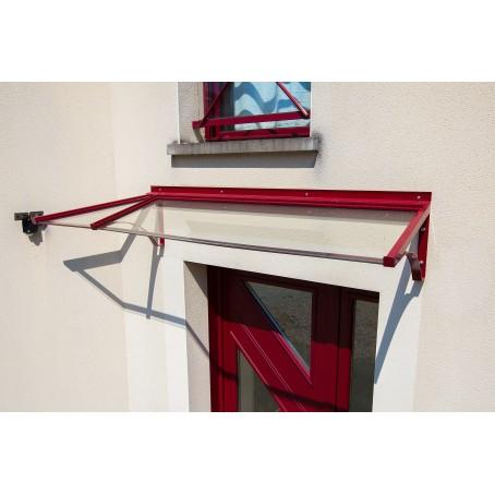 Marquise de porte d'entrée scellée -verre armé