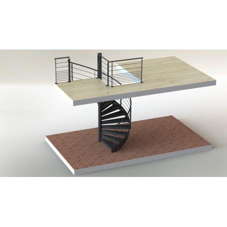 Escalier h lico dal for Comescalier helicoidal acier