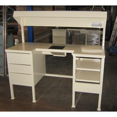 Poste de travail tôlé avec tiroirs -fintion peinture