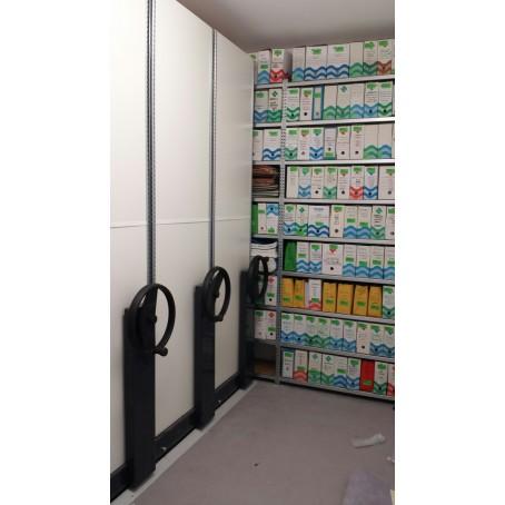 exemple de réalisation rayonnage archives mobile-  Bretagne administration