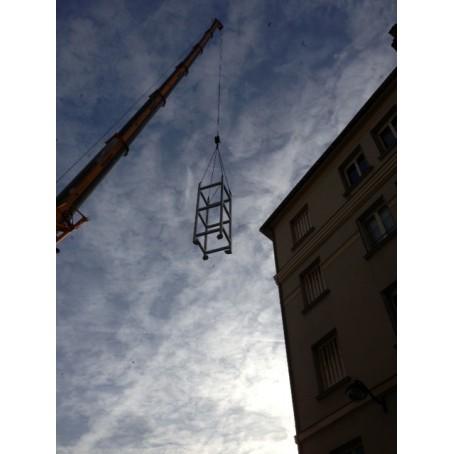 ossature ascenseur metal