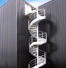 Escalier issue industriel métal