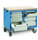 table de travail mobile à tiroirs