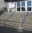 Garde-corps avec main courante pour escalier en acier galvanisé