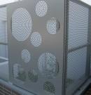 Grille de sécurisation-acier perforé laqué et galvanisé-motifs cercles