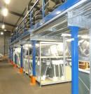 Plateforme industrielle sur poteaux mezzanine